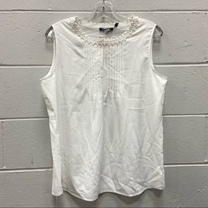NEW Tommy Hilfiger Ladies White Sleeveless Top